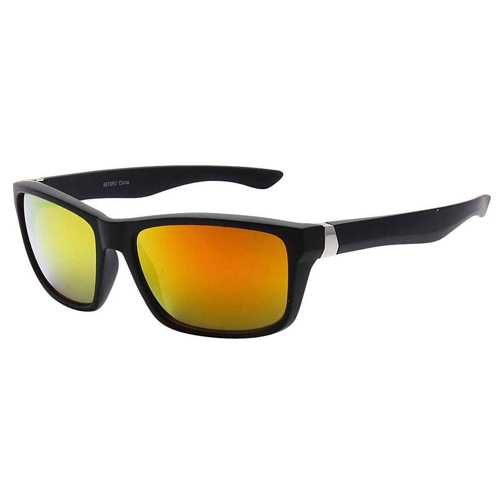 SW Global Sporty Retro Durable Full Frame Retro Square UV400 Sunglasses Black Orange Yellow - SW Global Eyewear - Fashion Accessories, Eyewear