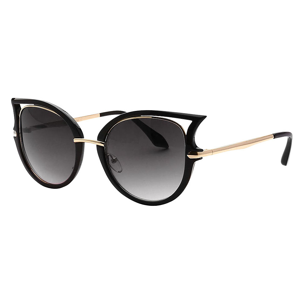 SW Global Women Sexy Elegant Cateye UV400 Sunglasses Black Gold Gradient - SW Global Eyewear - Fashion Accessories, Eyewear