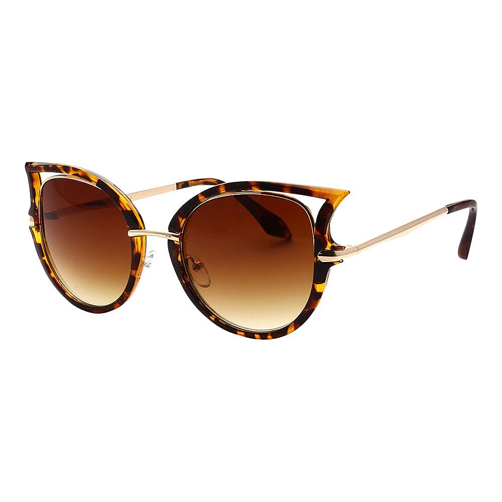 SW Global Women Sexy Elegant Cateye UV400 Sunglasses Leopard Amber - SW Global Eyewear - Fashion Accessories, Eyewear