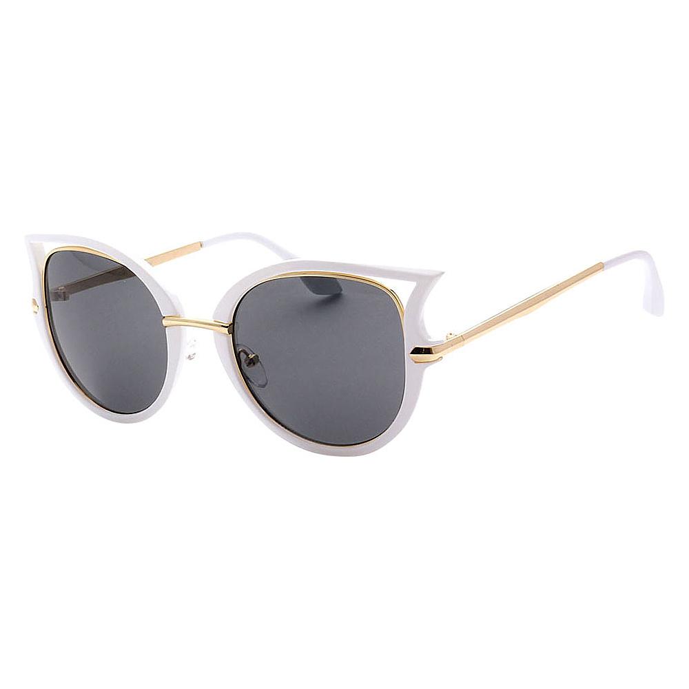 SW Global Women Sexy Elegant Cateye UV400 Sunglasses White Gold Black - SW Global Eyewear - Fashion Accessories, Eyewear