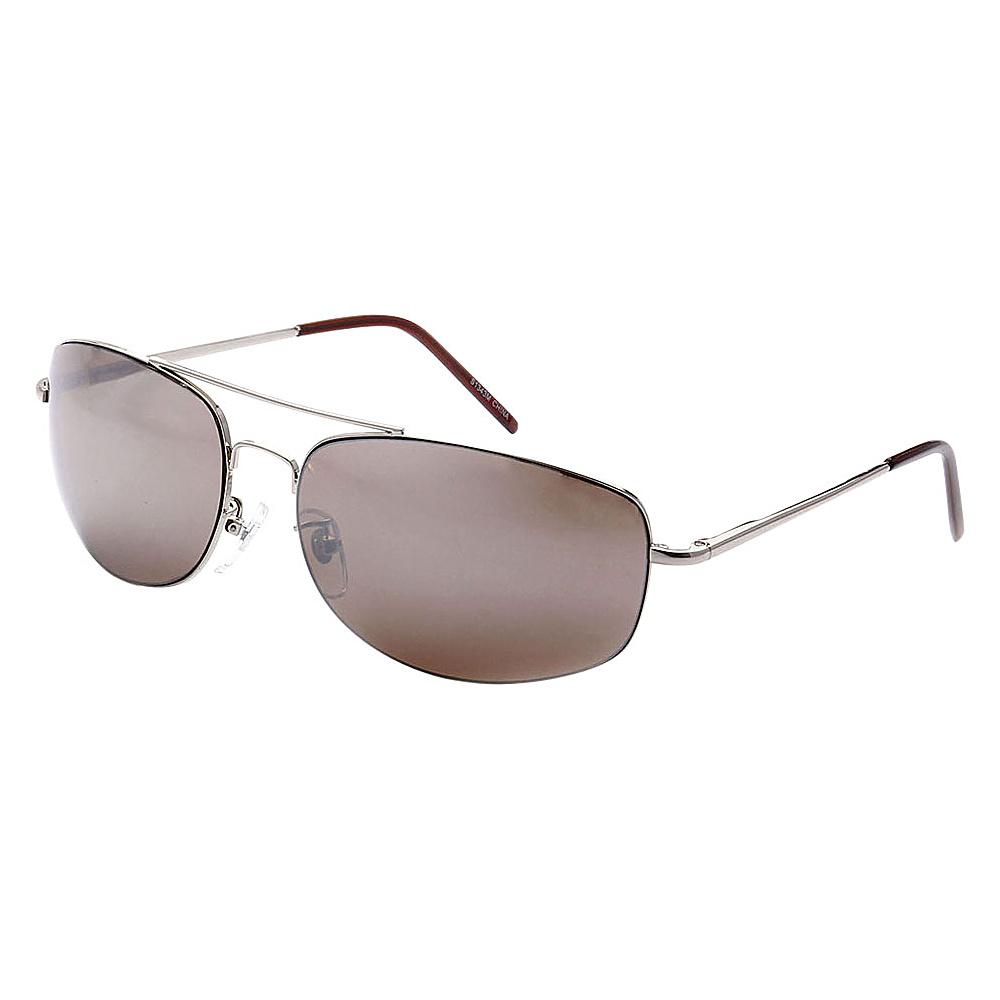 SW Global Ultra Light Weight Sport Aviator UV400 Sunglasses Silver Brown - SW Global Eyewear - Fashion Accessories, Eyewear