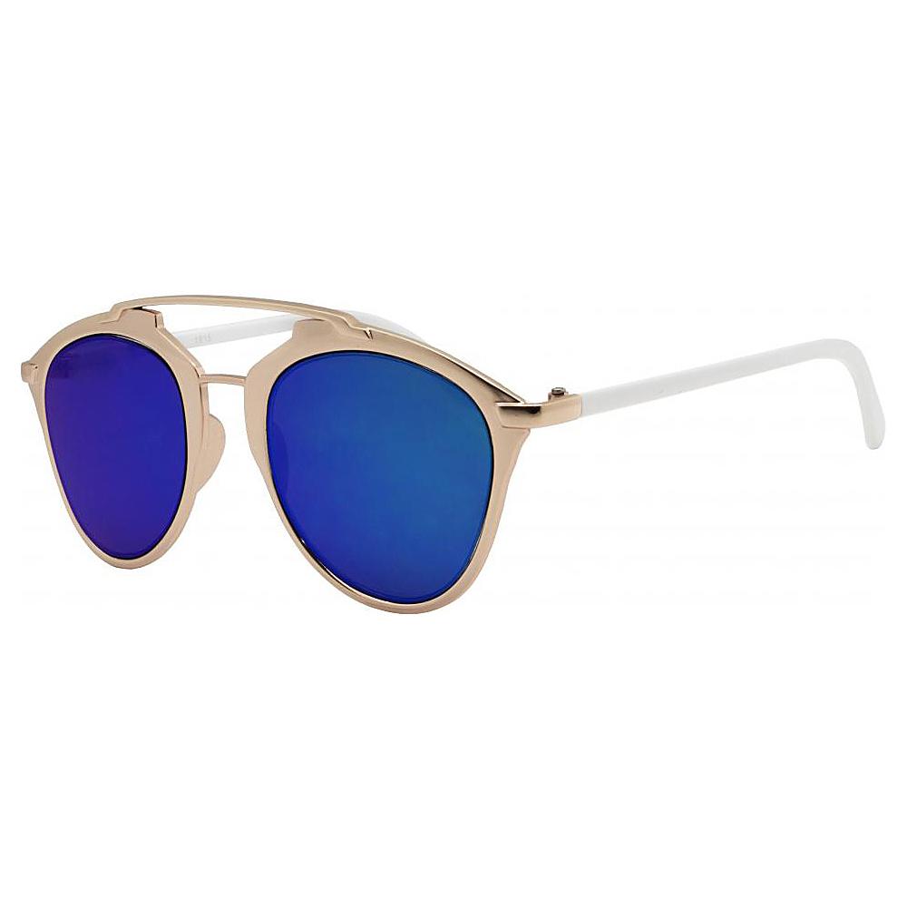 SW Global Designer Dapper Frame Metal Horned Rim UV400 Sunglasses White - SW Global Eyewear - Fashion Accessories, Eyewear