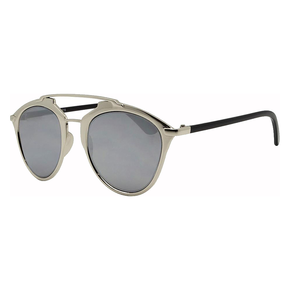 SW Global Designer Dapper Frame Metal Horned Rim UV400 Sunglasses Silver - SW Global Eyewear - Fashion Accessories, Eyewear