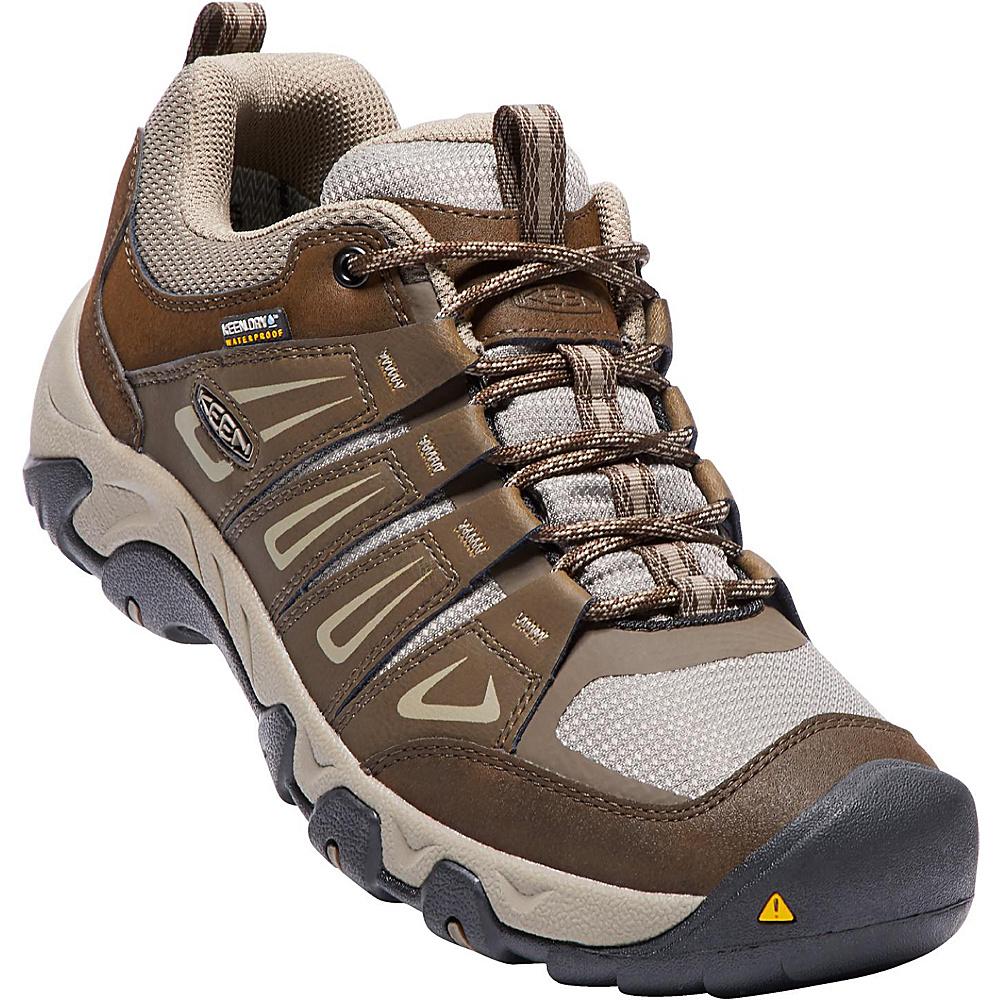 KEEN Mens Oakridge Waterproof Boot 12 - Cascade/Brindle - KEEN Mens Footwear - Apparel & Footwear, Men's Footwear