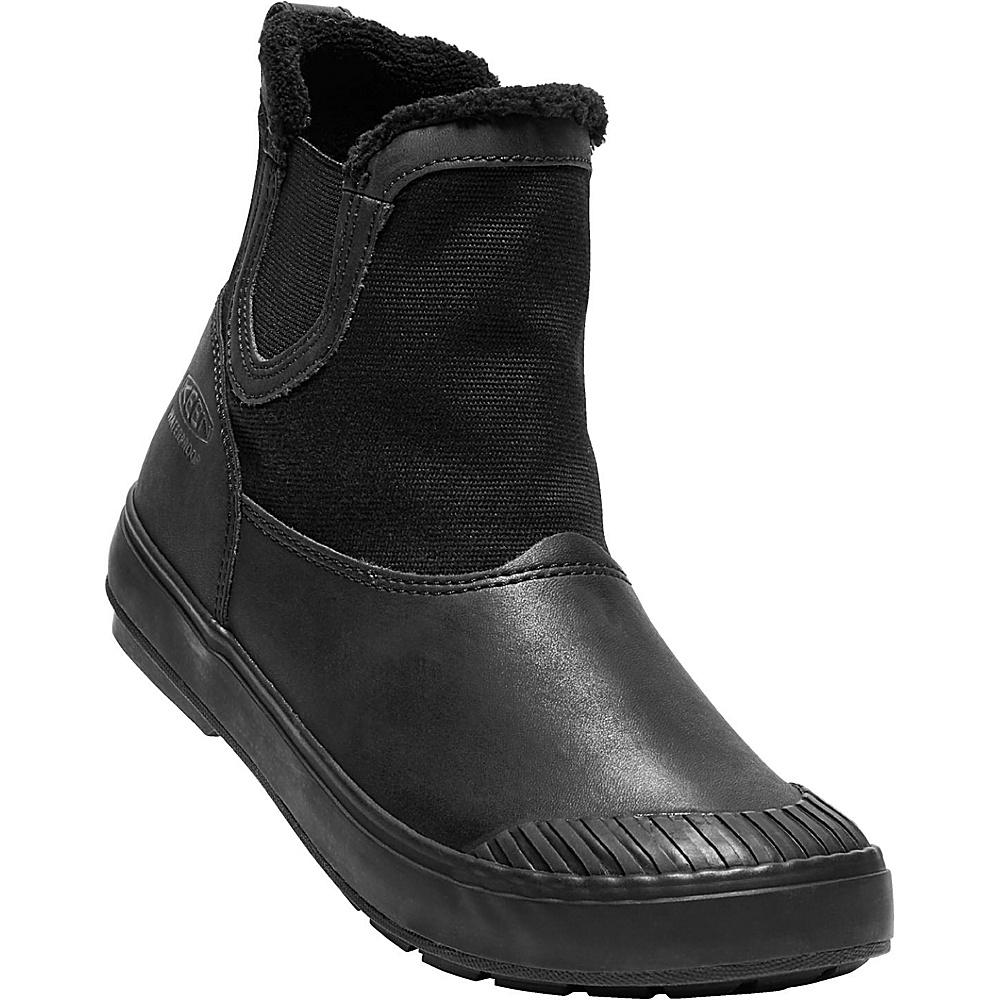 KEEN Womens Elsa Chelsea Waterproof Boot 7 - Black/Black - KEEN Womens Footwear - Apparel & Footwear, Women's Footwear