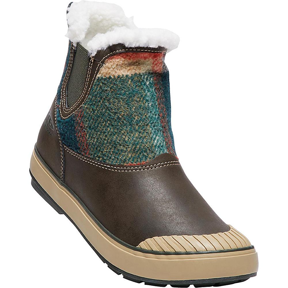 KEEN Womens Elsa Chelsea Waterproof Boot 9 - Coffee Bean Wool - KEEN Womens Footwear - Apparel & Footwear, Women's Footwear