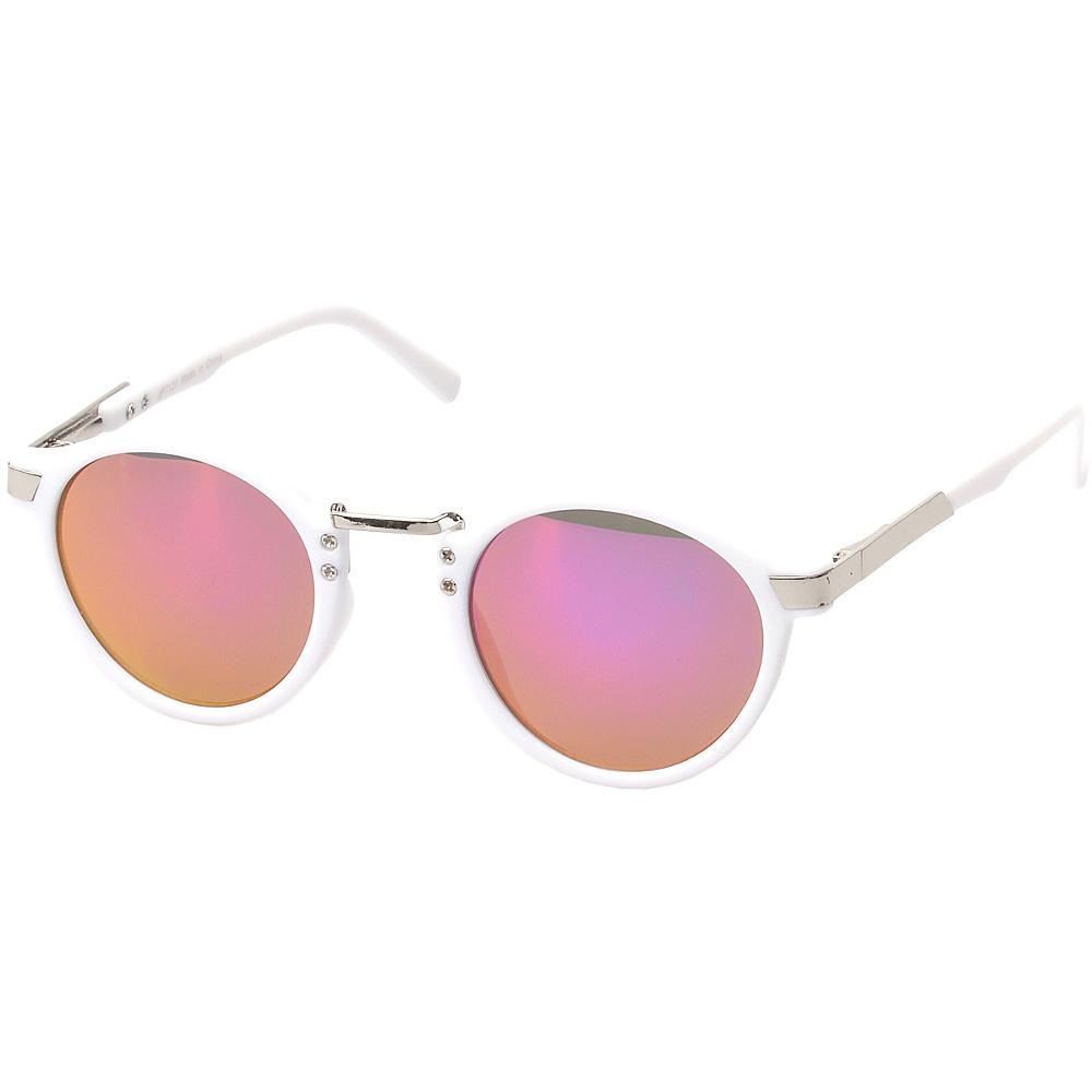 SW Global Edon Round Fashion Sunglasses White - SW Global Eyewear - Fashion Accessories, Eyewear