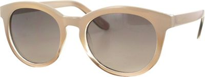 Jones New York Preppy Round Sunglasses Nude/Smoke to Brown Lens - Jones New York Eyewear