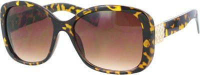 Kay Unger Square Sunglasses Tortoise/Gradient Brown Lens - Kay Unger Eyewear