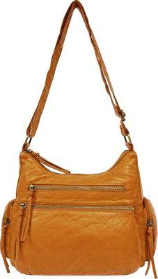Bueno Double Entry Shoulder Bag Mustard - Bueno Fabric Handbags