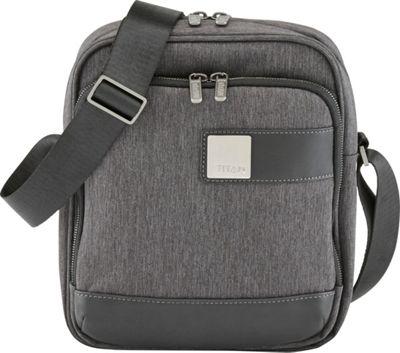 Titan Bags Power Pack Organizational 10 inch Shoulder Bag Mixed Grey - Titan Bags Designer Handbags