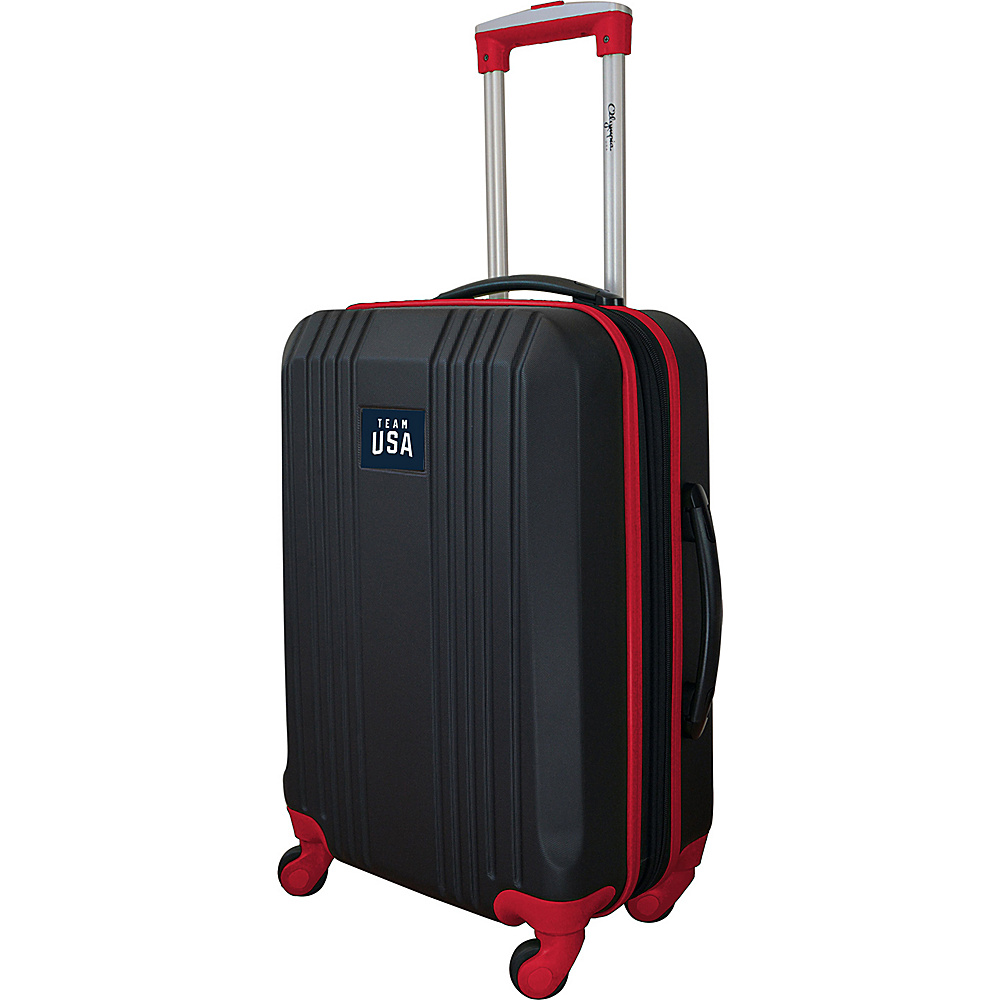 MOJO Denco Team USA Olympics 21 Dual Color Hardside Carry-On Spinner Luggage Red - MOJO Denco Kids Luggage - Luggage, Kids' Luggage