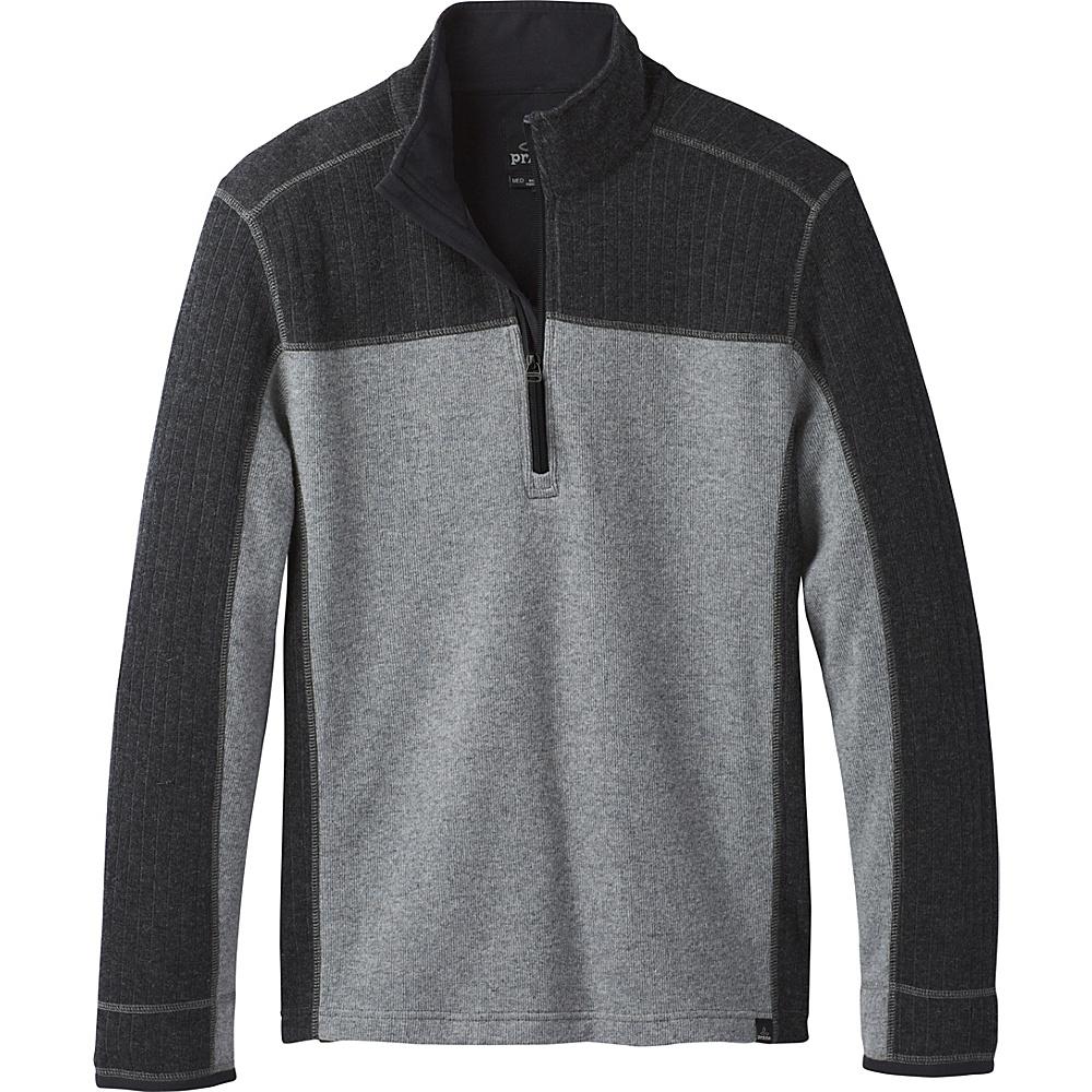 PrAna Wentworth 1/4 Zip Sweater M - Gravel - PrAna Mens Apparel - Apparel & Footwear, Men's Apparel