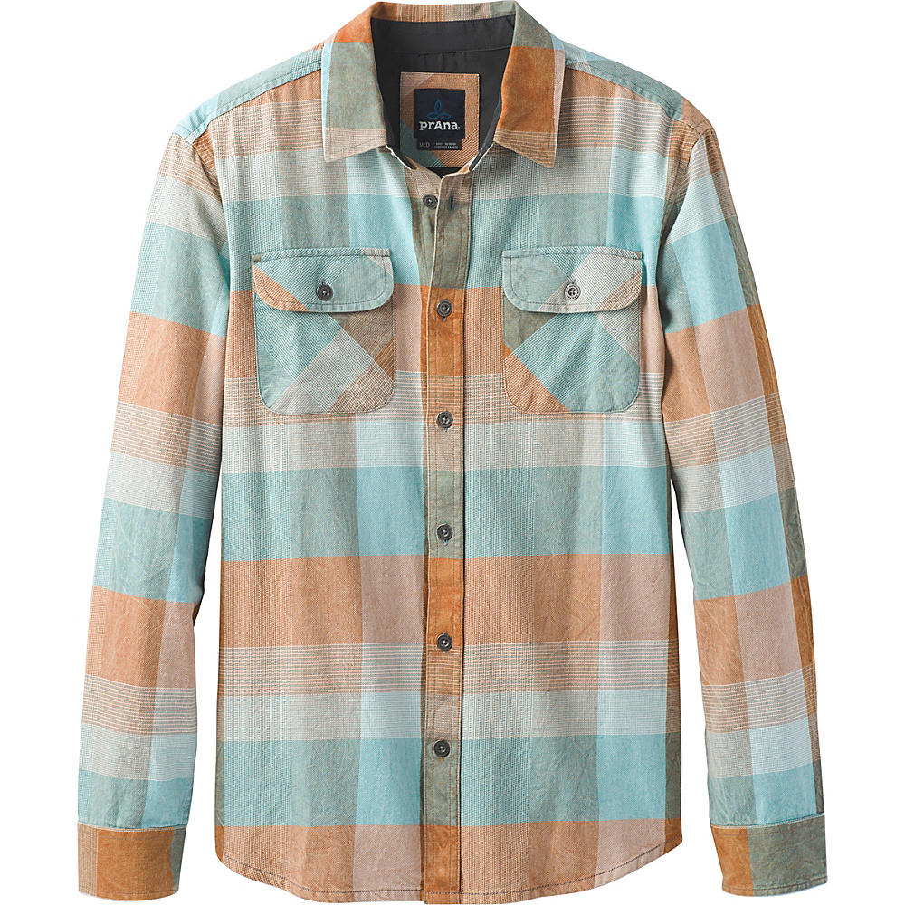 PrAna Lybeck Shirt S - Adobe - PrAna Mens Apparel - Apparel & Footwear, Men's Apparel