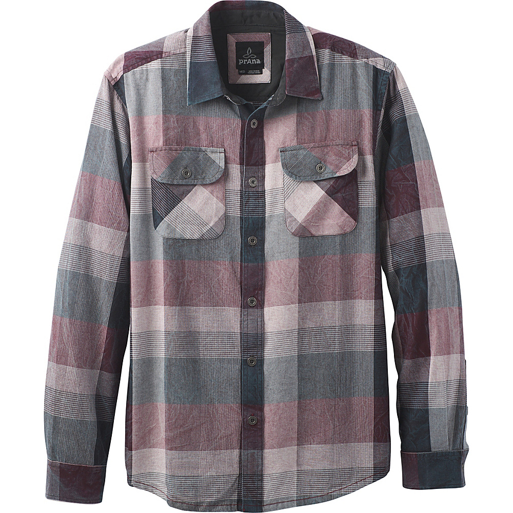 PrAna Lybeck Shirt S - Charcoal - PrAna Mens Apparel - Apparel & Footwear, Men's Apparel