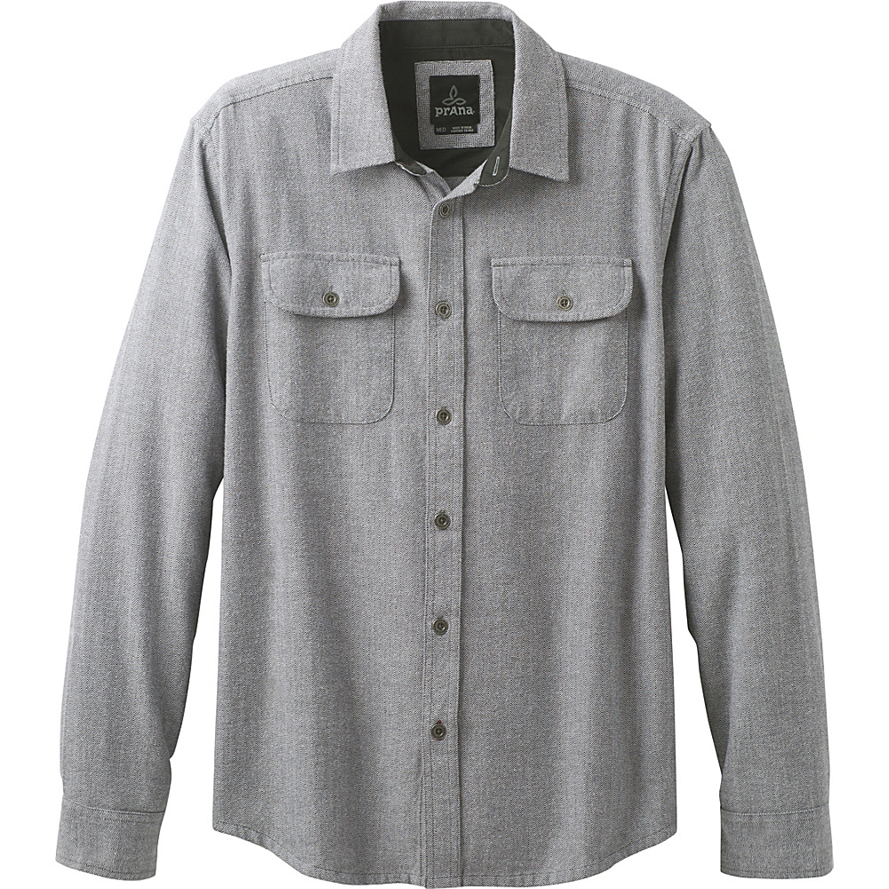 PrAna Lybeck Shirt S - Gravel - PrAna Mens Apparel - Apparel & Footwear, Men's Apparel