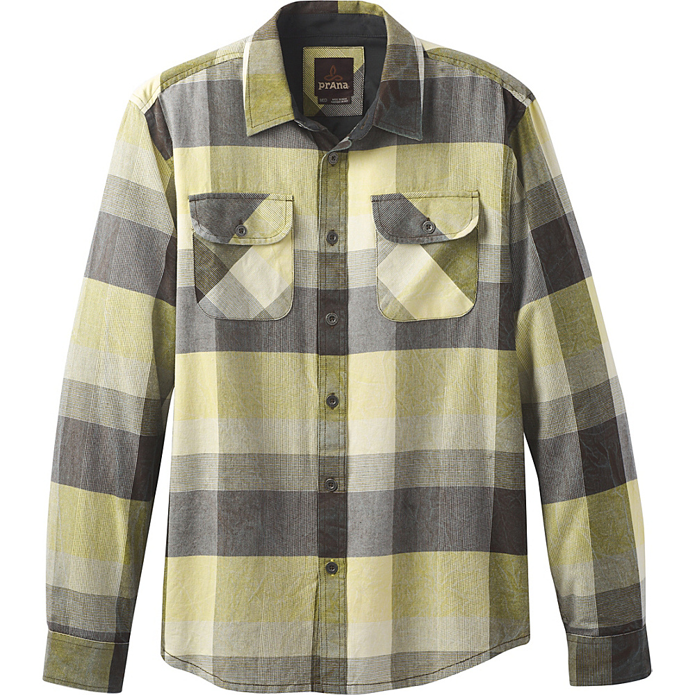 PrAna Lybeck Shirt S - Lemongrass - PrAna Mens Apparel - Apparel & Footwear, Men's Apparel