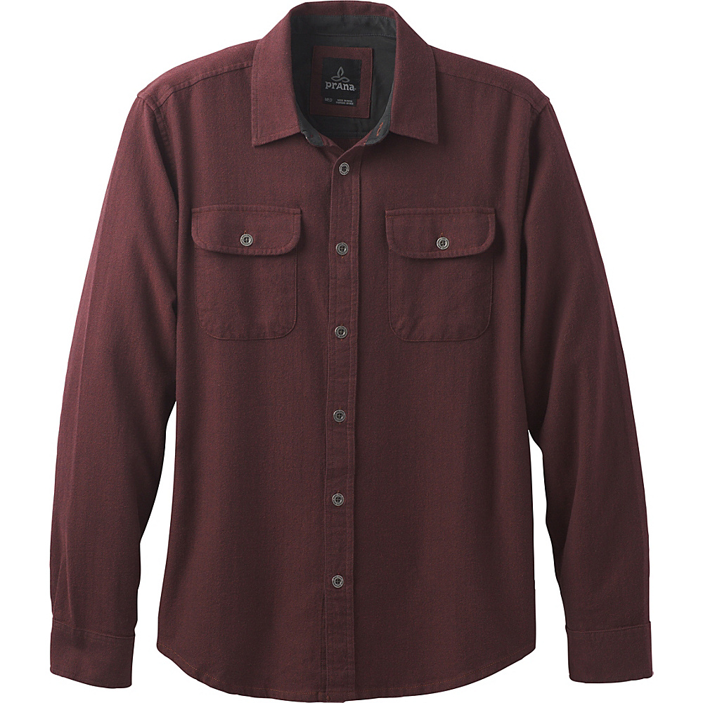 PrAna Lybeck Shirt S - Red Umber - PrAna Mens Apparel - Apparel & Footwear, Men's Apparel