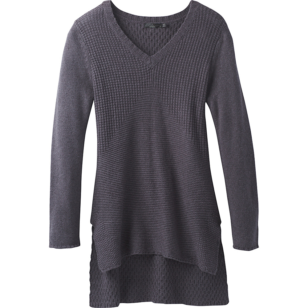 PrAna Deedra Sweater Tunic L - Coal - PrAna Womens Apparel - Apparel & Footwear, Women's Apparel