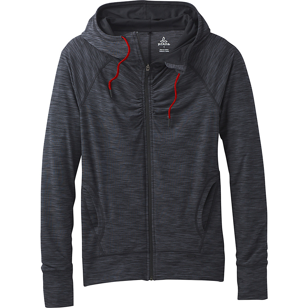 PrAna Camelia Zip Hoodie S - Charcoal - PrAna Womens Apparel - Apparel & Footwear, Women's Apparel