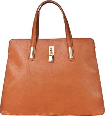 Markese Top Handle Tote Cognac - Markese Leather Handbags