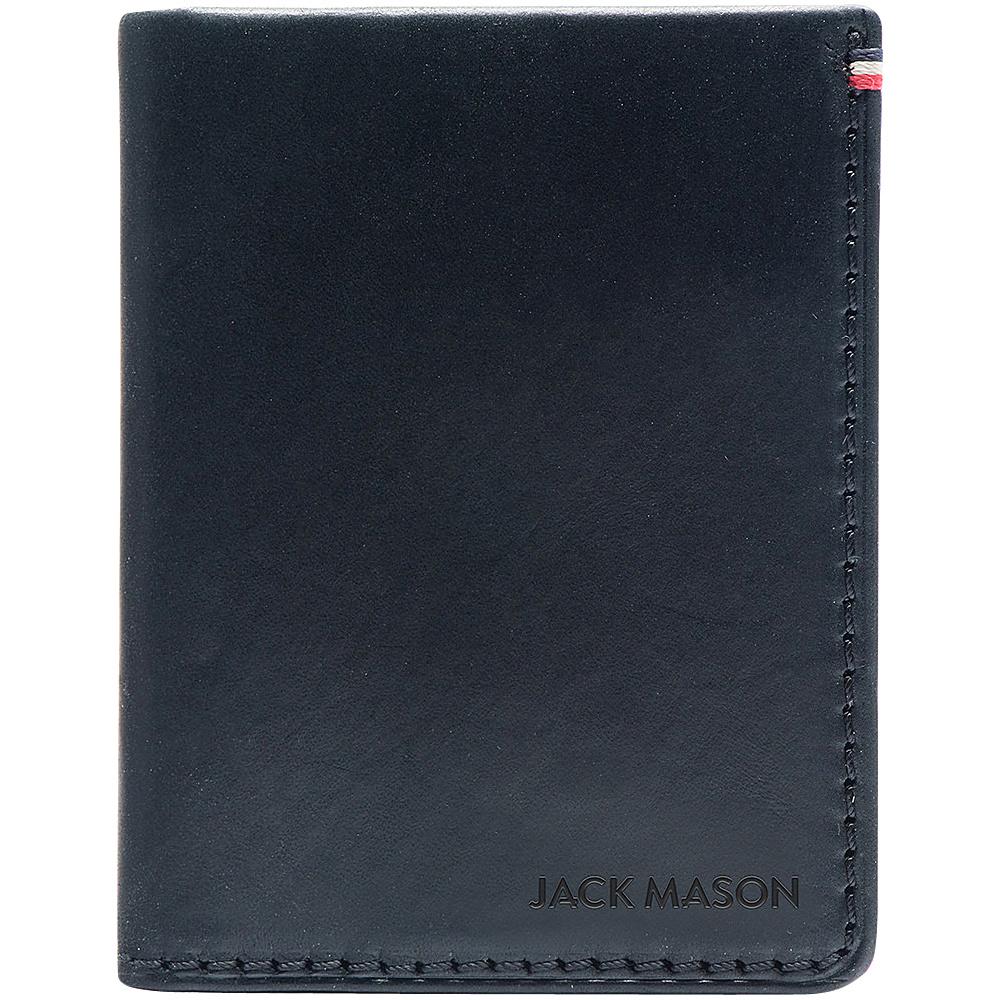 Jack Mason League Mens Leather Front Pocket Wallet Black - Jack Mason League Mens Wallets - Work Bags & Briefcases, Men's Wallets
