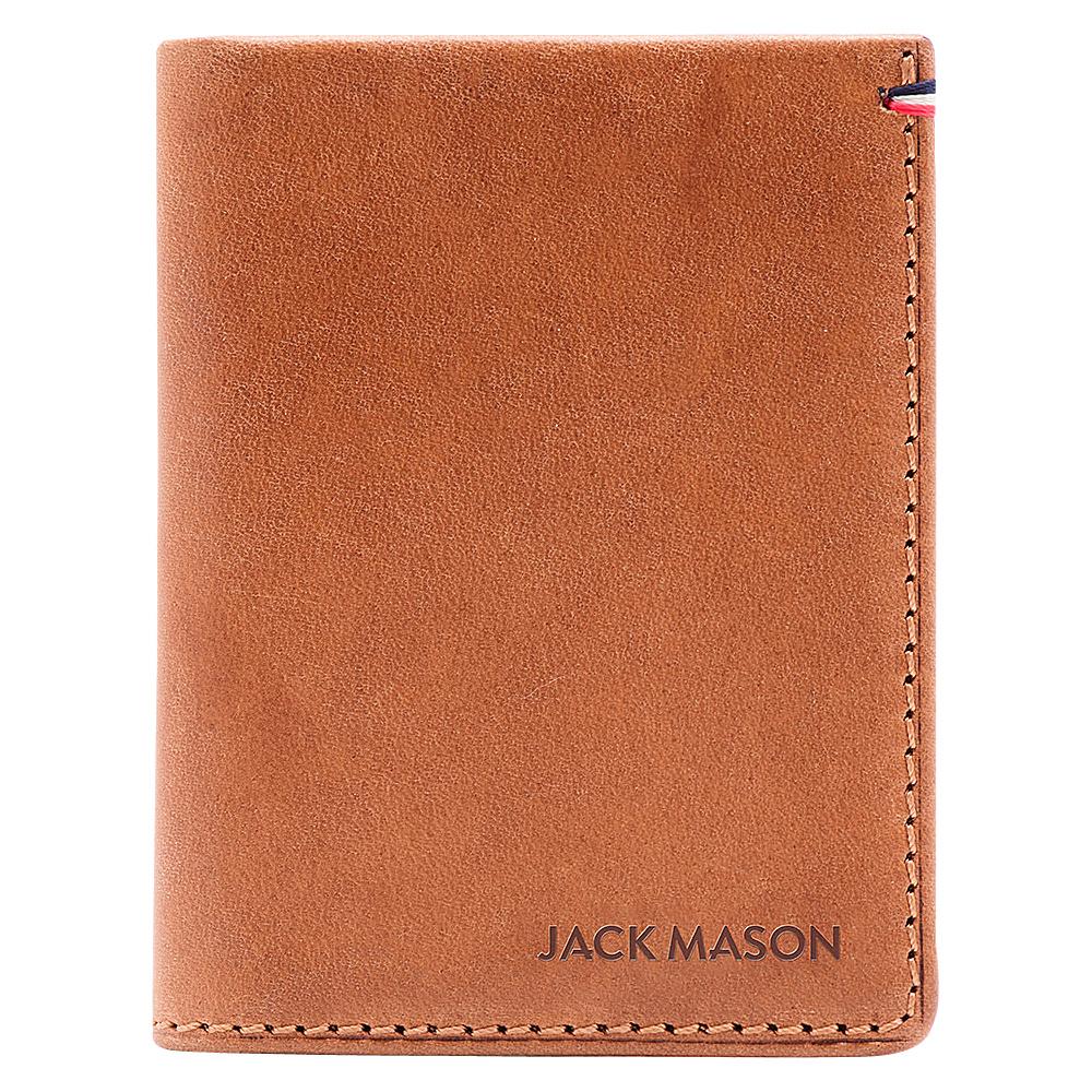 Jack Mason League Mens Leather Front Pocket Wallet Tan - Jack Mason League Mens Wallets - Work Bags & Briefcases, Men's Wallets