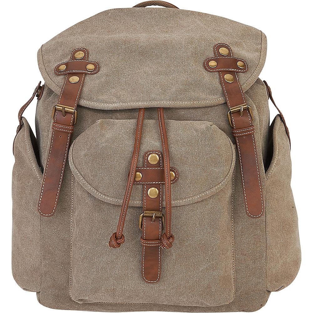 Sun N Sand Coleman Backpack Khaki - Sun N Sand School & Day Hiking Backpacks - Backpacks, School & Day Hiking Backpacks