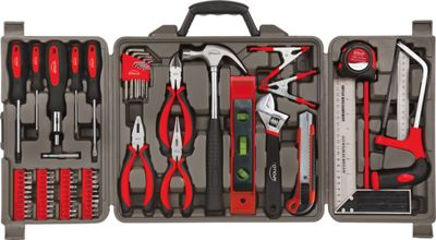 Apollo Tools 71 Piece Household Tool Kit Red - Apollo Tools Sports Accessories