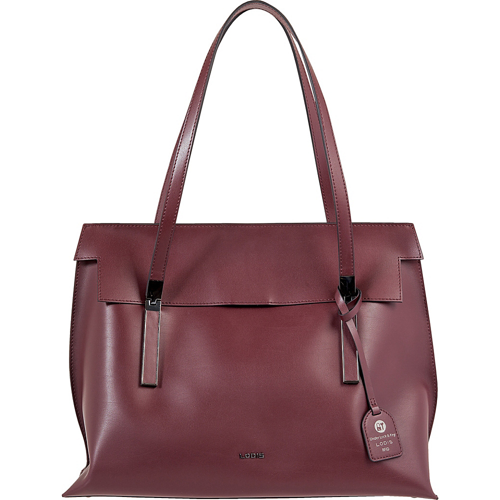 Lodis Silicon Valley RFID Lorrain Flap Satchel Chianti/Taupe - Lodis Leather Handbags - Handbags, Leather Handbags