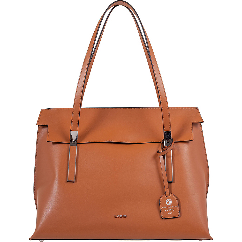 Lodis Silicon Valley RFID Lorrain Flap Satchel Toffee/Taupe - Lodis Leather Handbags - Handbags, Leather Handbags