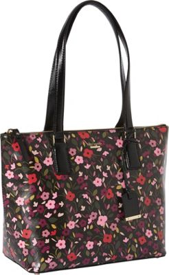 kate spade new york Cameron Street Boho Floral Small Lucie Shoulder Bag Black Multi - kate spade new york Designer Handbags