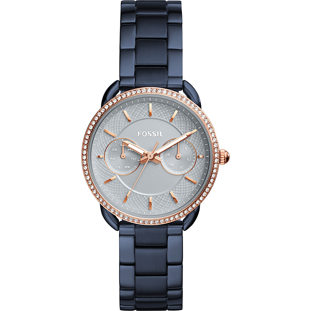 Fossil Tailor Multifunction Stainless Steel Watch Blue - Fossil Watches - Fashion Accessories, Watches
