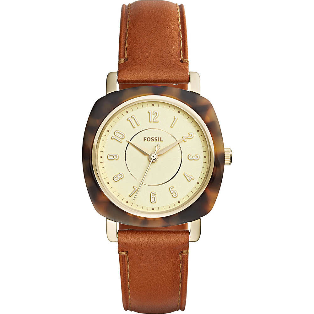 Fossil Idealist Three-Hand Leather Watch Brown - Fossil Watches - Fashion Accessories, Watches