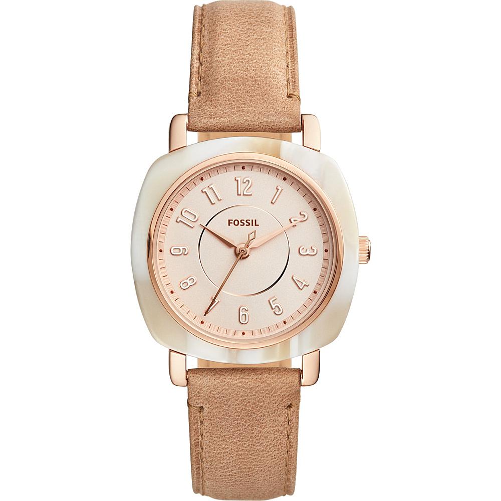 Fossil Idealist Three-Hand Leather Watch Beige(Beige) - Fossil Watches - Fashion Accessories, Watches