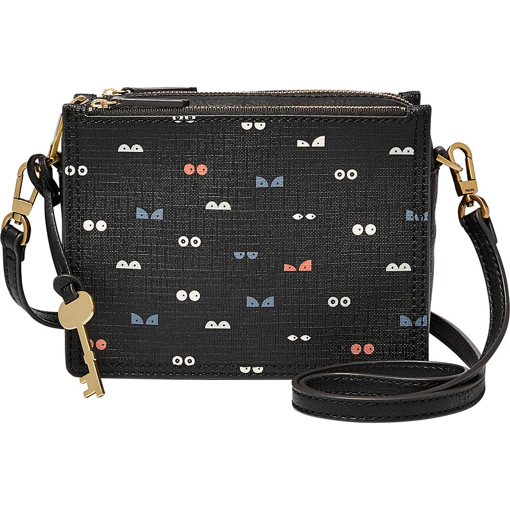 Fossil Campbell Crossbody Black Multi - Fossil Manmade Handbags - Handbags, Manmade Handbags