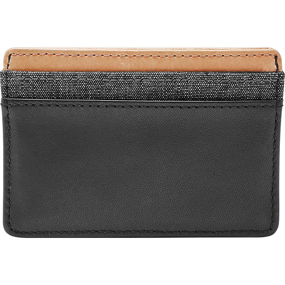 Fossil Booker Card Case Black - Fossil Mens Wallets - Work Bags & Briefcases, Men's Wallets