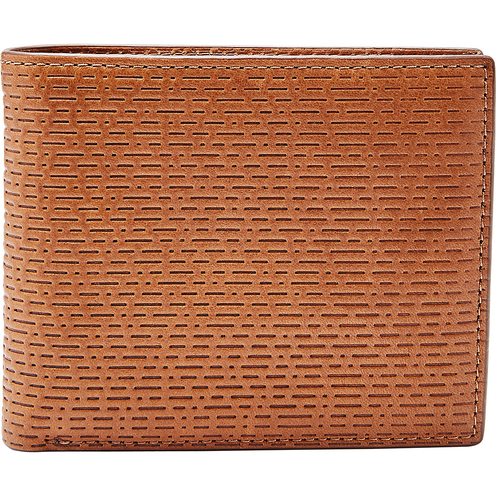 Fossil Coby RFID Large Coin Pocket Bifold Cognac - Fossil Mens Wallets - Work Bags & Briefcases, Men's Wallets