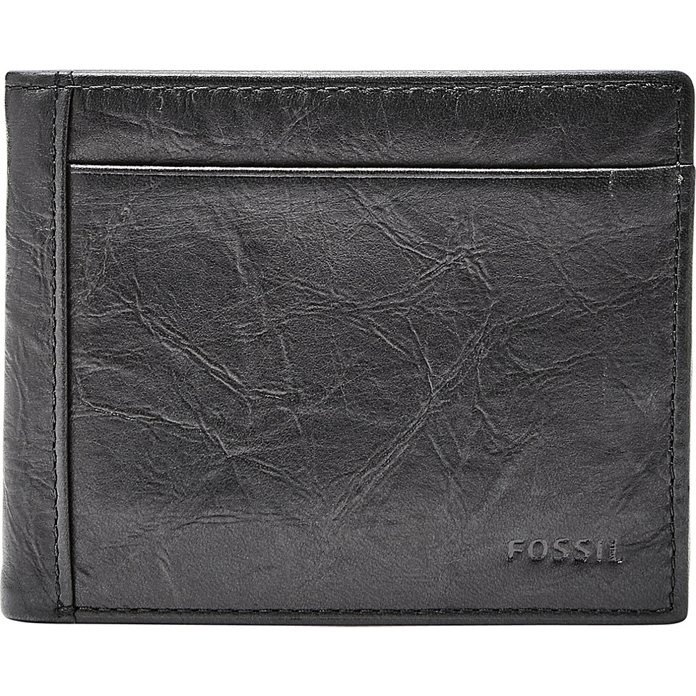 Fossil Neel Flip ID Bifold Black - Fossil Mens Wallets - Work Bags & Briefcases, Men's Wallets