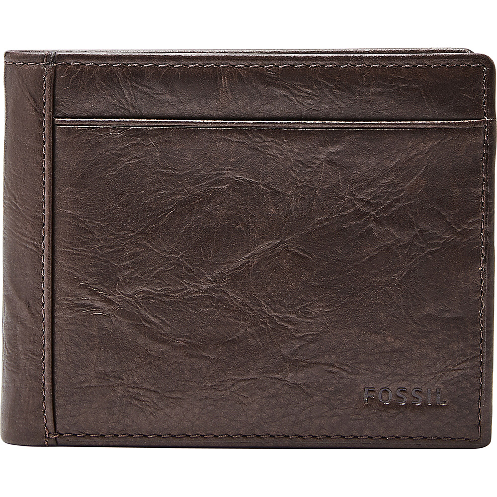 Fossil Neel Flip ID Bifold Brown - Fossil Mens Wallets - Work Bags & Briefcases, Men's Wallets