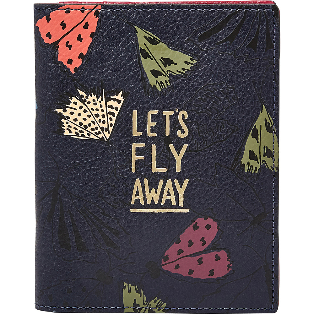Fossil RFID Passport Case Navy Multi - Fossil Travel Wallets - Travel Accessories, Travel Wallets