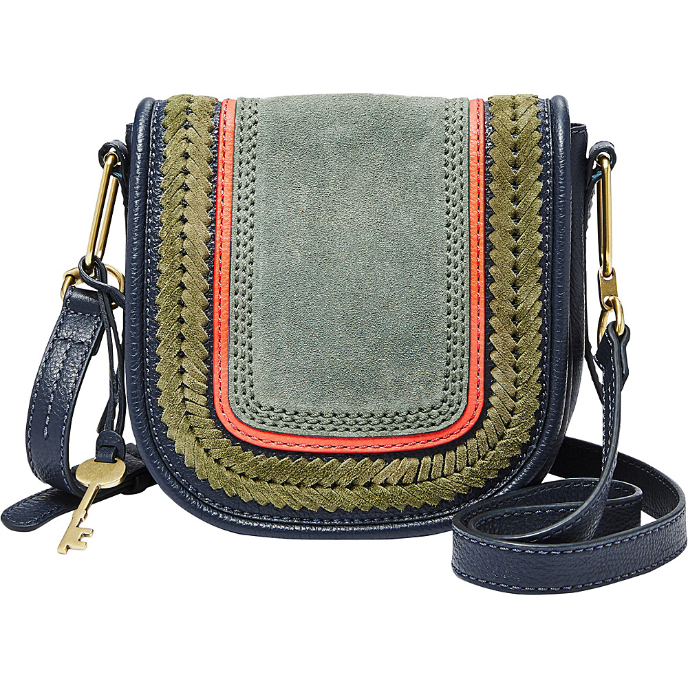 Fossil Rumi Small Crossbody Blue - Fossil Leather Handbags - Handbags, Leather Handbags