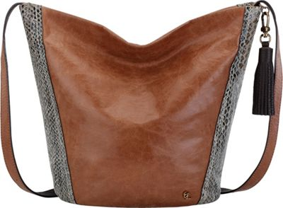 Elliott Lucca Keri Hobo Brown Snake Multi - Elliott Lucca Leather Handbags