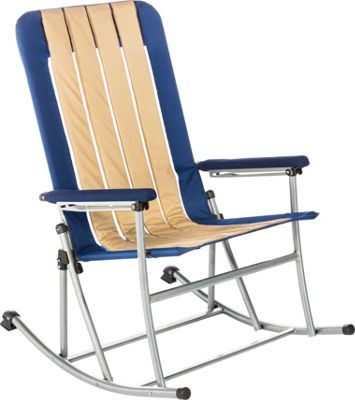 Kamp Rite Kamp Rite Folding Rocking Chair Blue / Khaki - Kamp Rite Outdoor Accessories