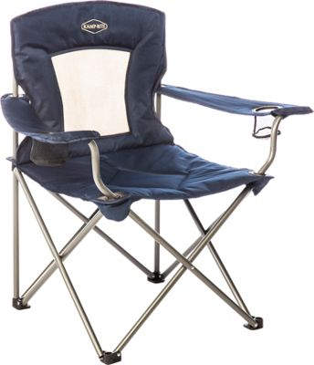 Kamp Rite Kamp Rite Padded Chair with Mesh Back Blue - Kamp Rite Outdoor Accessories