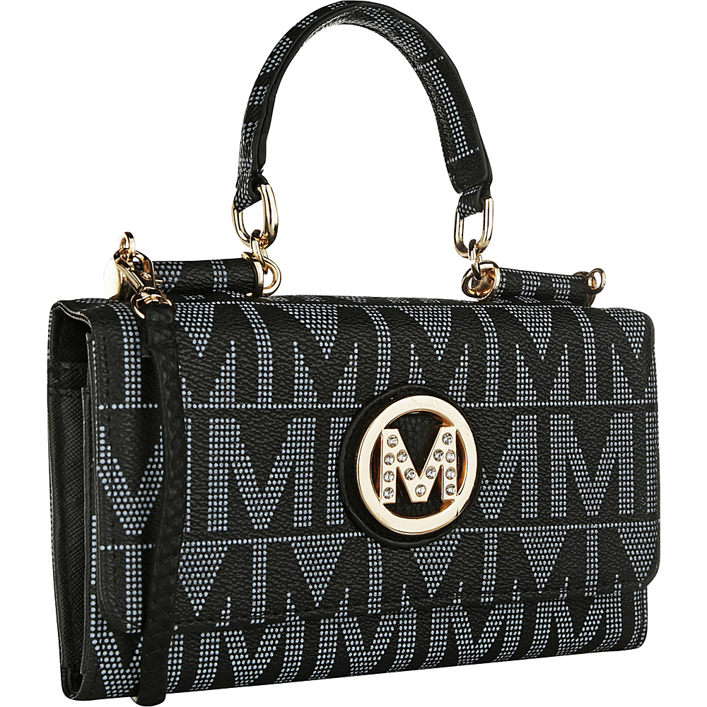 MKF Collection by Mia K. Farrow Luciene 3 in 1 M Signature Crossbody Black - MKF Collection by Mia K. Farrow Manmade Handbags - Handbags, Manmade Handbags