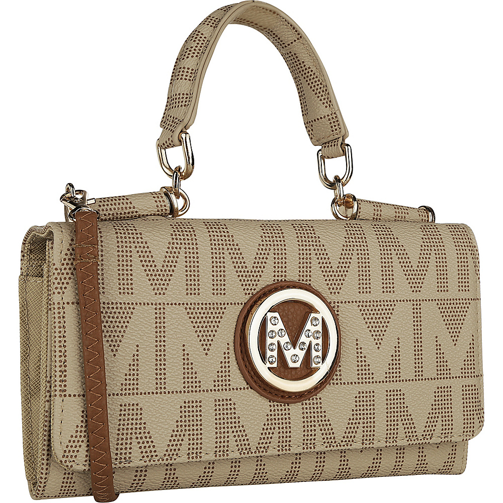 MKF Collection by Mia K. Farrow Luciene 3 in 1 M Signature Crossbody Beige - MKF Collection by Mia K. Farrow Manmade Handbags - Handbags, Manmade Handbags