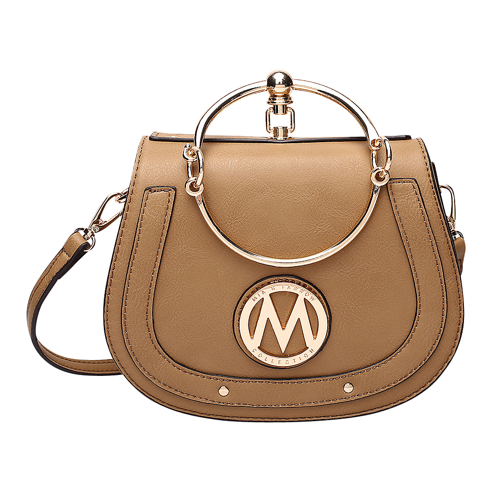 MKF Collection by Mia K. Farrow Celine Crossbody Taupe - MKF Collection by Mia K. Farrow Manmade Handbags - Handbags, Manmade Handbags
