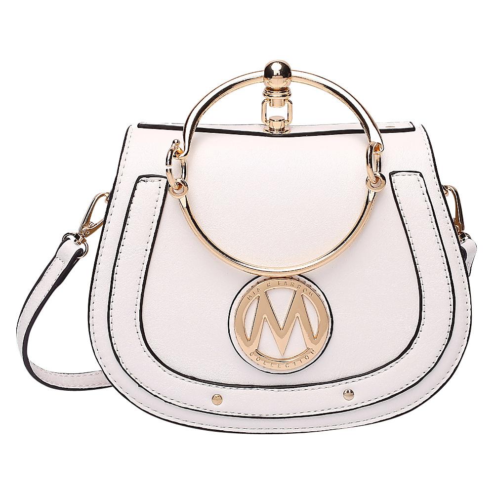 MKF Collection by Mia K. Farrow Celine Crossbody White - MKF Collection by Mia K. Farrow Manmade Handbags - Handbags, Manmade Handbags