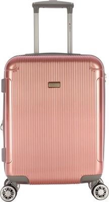 Gabbiano Genova 20 inch Expandable Carry-On Hardside Spinner Luggage Rose Gold - Gabbiano Hardside Carry-On